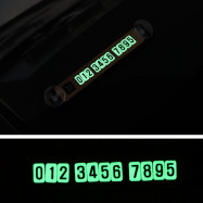 Car Luminous Magnetic Puzzle Temporary Phone Number Parking Card Stop Sign with Suckers