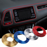 5m Car Interior Moulding Strips Decoration Line