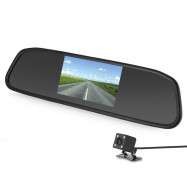Car 4.3 inch Rear View Mirror Monitor Display Screen and Reversing Camera with 4 LED Lights
