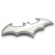 Metal 3D DIY Car Vehicle Auto Wall Decoration Sticker Art Bat Shape Pattern
