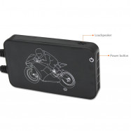MT002 Full HD 1080p Double Lens Motorcycle Black Box