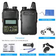 BAOFENG BF-T1 MINI Walkie Talkie UHF 400-470MHz Portable T1 Two Way Radio