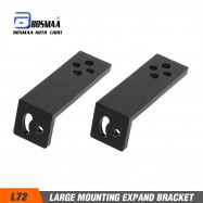 2PCS BOSMAA L72 Large Universal Motorcycle Headlight Bracket Spotlight Holder