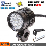 BOSMAA 20W MX-l2 M201 4800LM LED Motorcycle Headlight Fog Spot HeadLamp Spotligh