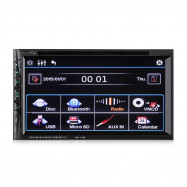 MP1169 2 Din 6.95 inch Bluetooth Car Stereo DVD CD Player with 1080P TFT Touch Screen Supports Hands-free Call / 32GB TF Card