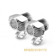 For Motor Car Fog Light 18W 2700LM Motorcycle LED Headlight Spotlight