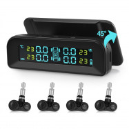 AutoLover C260 Tire Pressure Monitoring SystemSolar TPMSUniversal Real-time Tester LCD Screen with 4 Internal Sensors