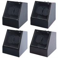 JA1621 Automatic Watch Winder Auto Silent Watch Winder  Irregular Shape Transparent Cover Wristwatch Box with US Plug