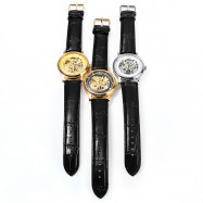Winner W088 Hollow Out Mechanical Watch with Leather Strap for Male