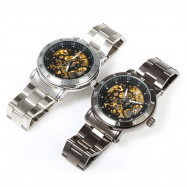 SHENHUA CGX 20 Male Automatic Mechanical Watch Sport Hollow-out with Roman Number Dial Wristwatch