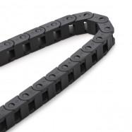 1M Nylon Plastic Drag Chain with 7 x 7mm Internal Bore for 3D Printer