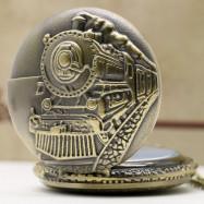 New Antique Bronze Locomotive Locomotive Engine Pendant Quartz Pocket Watch