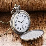 Bronze Moon Star Circle Quartz Pocket Watch Necklace Pendant Gift List
