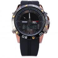 Skmei 1064 Solar Power Dual Movt LED Watch Military Sports Wristwatch