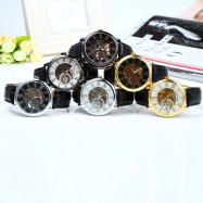 Forsining Self-Winding Auto Mechanical Leather Wrist Watch for Men