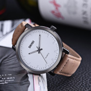SKMEI 1196 Male Quartz Watch 3ATM Leather Strap Luminous Wristwatch