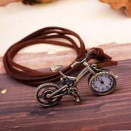 Fashion Cartoon Bicycle Pocket Watch