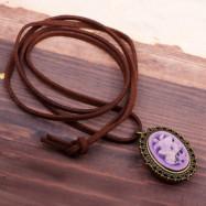 Palace Restoring Ancient Ways Purple Flower Pocket Watch
