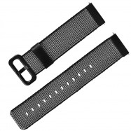 TAMISTER 20mm Knitted Canvas Wrist Watch Band Strap for Amazfit Youth Ed. BLACK