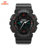 HOSKA HD047B Double Movt Wristwatch for Children BLACK
