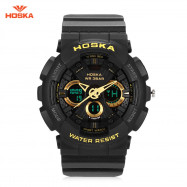 HOSKA HD047B Double Movt Wristwatch for Children YELLOW