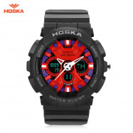HOSKA HD047B Double Movt Wristwatch for Children RED