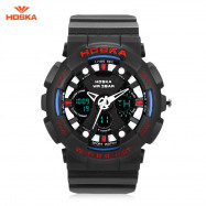 HOSKA HD047B Double Movt Wristwatch for Children BLUE