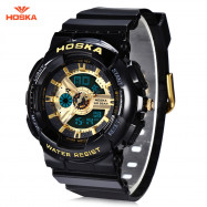 HOSKA HD058S Double Movt Wristwatch for Children GOLDEN
