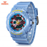 HOSKA HD058S Double Movt Wristwatch for Children LIGHT BLUE
