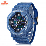 HOSKA HD058S Double Movt Wristwatch for Children DEEP BLUE