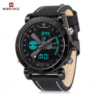 Naviforce 9132 Male Dual Movt Watch Luminous Calender Display for Men GRAY