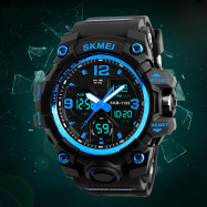 SKMEI Men Sport Digital Watch with Chronograph Double Time Alarm Light ICEBERG