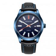 OCHSTIN GQ048A Men Leather Quartz Calendar Sport Military Watch BLUE