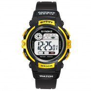 SYNOKE 99569 Luminous Waterproof Children Electronic Watch YELLOW