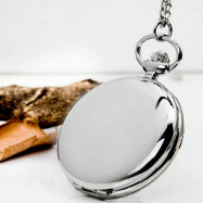 Polishing Smooth Fashion Pocket Watch SILVER
