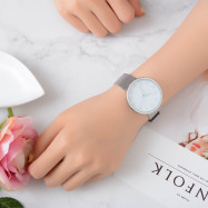 Lvpai P400 Women Quartz Wrist Watch Mesh Alloy Band Analog  WHITE