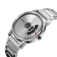 SKMEI Men's Quartz Waterproof Full Steel Fashion Top Luxury Brand Watches SILVER