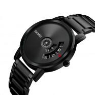 SKMEI Men's Quartz Waterproof Full Steel Fashion Top Luxury Brand Watches GUNMETAL