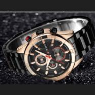 CURREN Men's Luxury Fashion Creative Quartz Large Dial Dress Watch GOLD