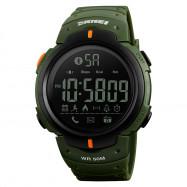 SKMEI Fashion Smart Men Calorie Pedometer Bluetooth Remote Camera Watch ARMY GREEN