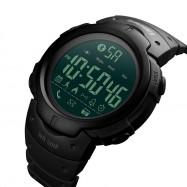 SKMEI Fashion Smart Men Calorie Pedometer Bluetooth Remote Camera Watch BLACK