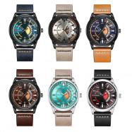 Curren 8298 Male Quartz Watch Calendar Stainless Steel Knit Band Wristwatch MULTI GRAY BAND GREEN  DIAL