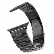 Fashion Stainless Steel Watch Band Strap 38 mm Link Bracelet Replacement Watchband for iWatch Serise 1 2 3 +Tool BLACK