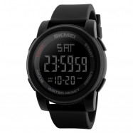 Men Sports Outdoor Sports Multi-Function Electronic Watch BLACK