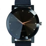 Luxury Simulated Diamond Quartz Sport Casual Creative Clock Fashion Watch BLACK