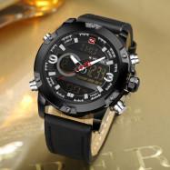 Naviforce 9097 Men's Dual Display Luminous Multifunctional Waterproof Sports Watch BLACK
