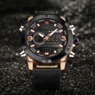 Naviforce 9097 Men's Dual Display Luminous Multifunctional Waterproof Sports Watch COPPER