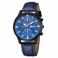 Geneva Men'S Fashion Business Arabic Digital Belt Quartz Watch MULTI-C