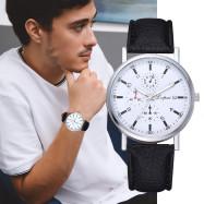 Lvpai P639  Three-Eyed Fashion Snake PU Leather Wrist Watch BLACK