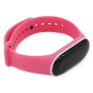 Double Color Replacement Wrist Strap Watchband Waterproof Band for Xiaomi Mi Band 3 PINK